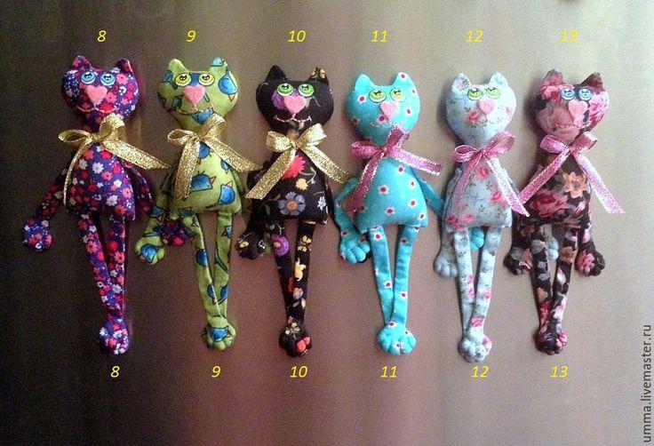 Купить Котишки -магнитики 5 )) - коты и кошки, кот, магнит на холодильник, забавный подарок