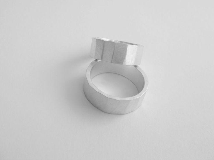 MATTE SILVER KUTE ŚLUB RING SET - product image