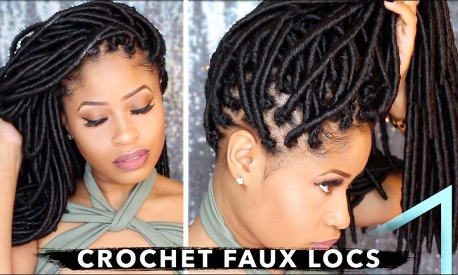 How To Crochet Individual Faux Locs With No Cornrows & No Wrapping? The Result Is Gorgeous!