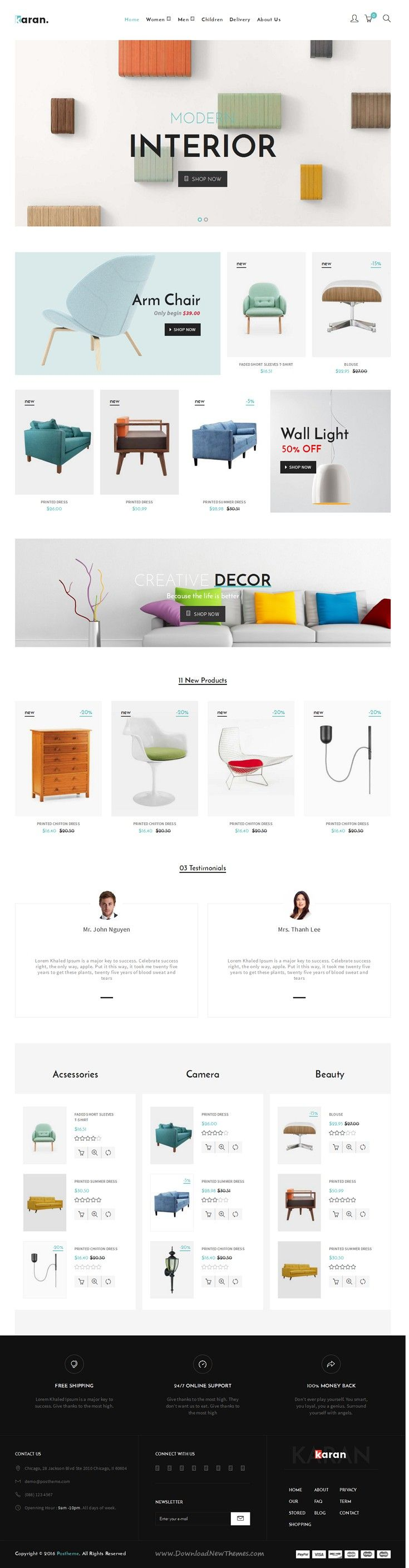 Karan is Responsive #Prestashop Theme for multipurpose eCommerce #website. #furniture #shop Download Now!