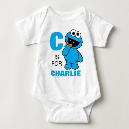 C is for Cookie Monster | Add Your Name Baby Bodysuit - click/tap to personalize and buy