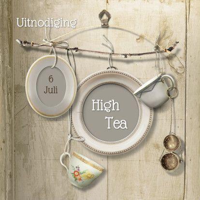Uitnodiging Scrapbook High Tea - Uitnodigingen - Kaartje2go © OTTI & Lorie Davison