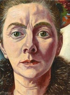 Toorop, Charley (1891-1955) - 1940 Self Portrait with Fur Collar (Sheringa Museum voor Realisme, the Netherlands)