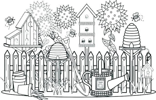Flower Garden Coloring Pages Printable Page Image | pictures to ...