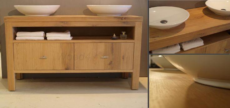 Dit is toch gewoon genieten massief eikenhout verwerkt tot een prachtig badkamermeubel - Tot een badkamer ...