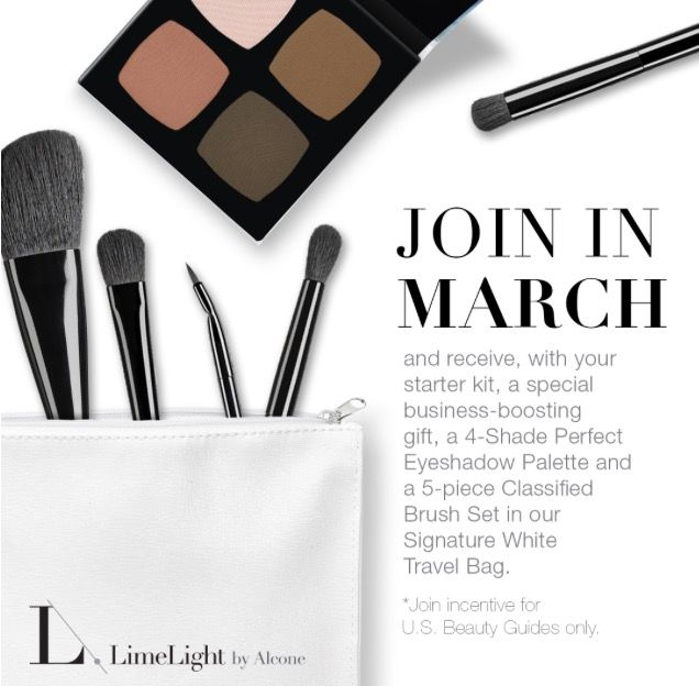 Hold the phone!! LimeLight is hitting it HARD this month! Not on do you get a ridiculous amount of products in our starter kit for $169, but this month ONLY you will get a four pallet eyeshadow, a 5 piece brush set, and white LL travel bag!! March is your month! Join the journey of becoming free and independent ❤️ #limelightwithheatherh #limelightbyalcone #limelight #makeup #makeupoftheday #muotd #skincare #flawless #beauty #vegan #brushset #happy #free #veganbrushset #professional