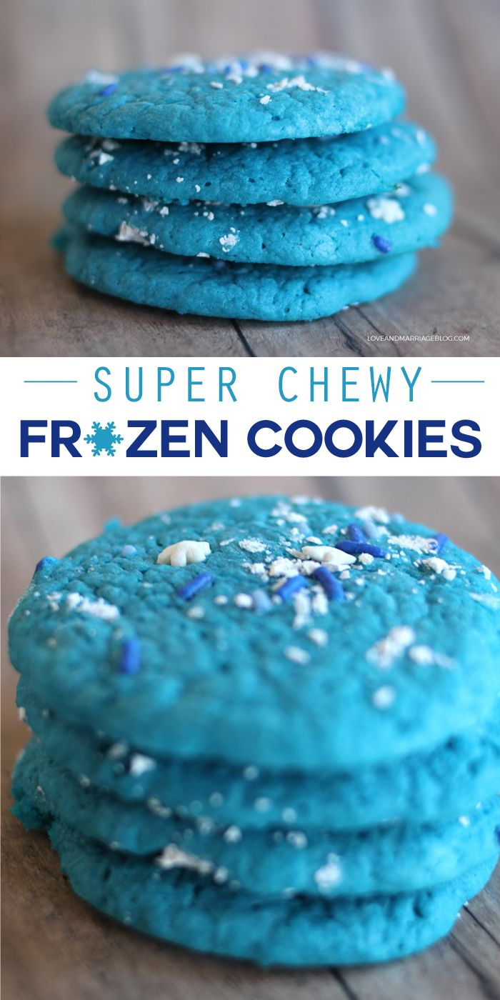 Frozen Elsa inspired cookies recipe. These are so soft and chewy!