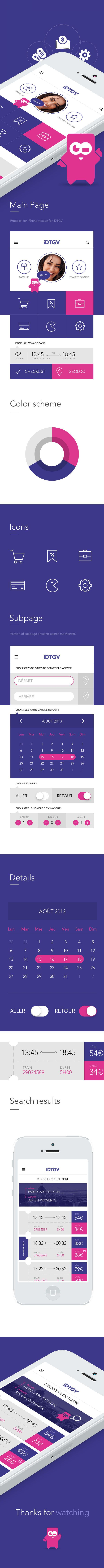 iOS7 Proposal iDTGV on Behance