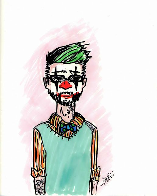 Otoño Abriliano comic arte art viñeta historieta dibujo drawing klown payaso