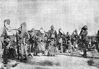 Inside the zariba during the Battle of Omdurman