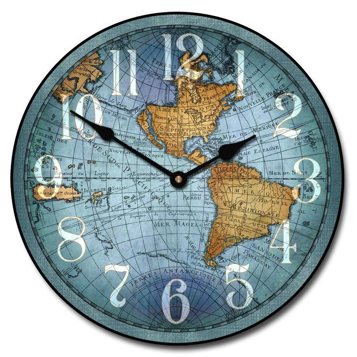 27 best world map clocks images on pinterest world maps wall vincenzo blue world map wall clock 10 60 whisper quiet nonticking continue to the product at the image link gumiabroncs Choice Image