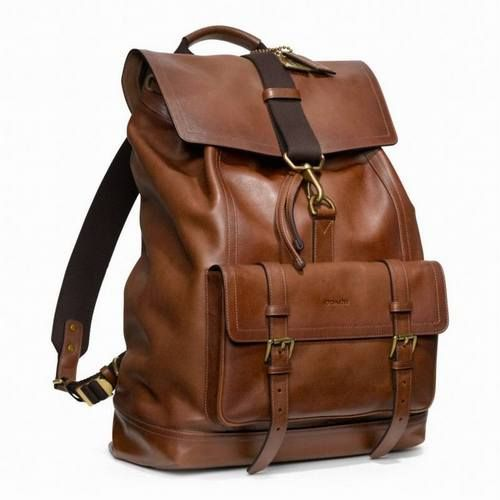 Coach Bleecker Leather Backpack FAWN 70786