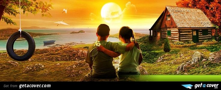 brother and sister watching sunset facebook cover for your