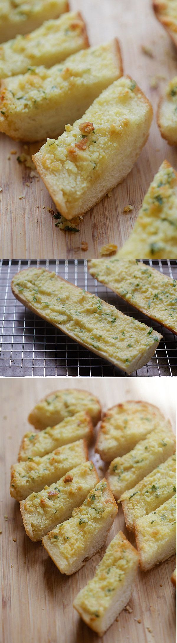 Parmesan Garlic Bread. A bit different than the garlic bread I make.