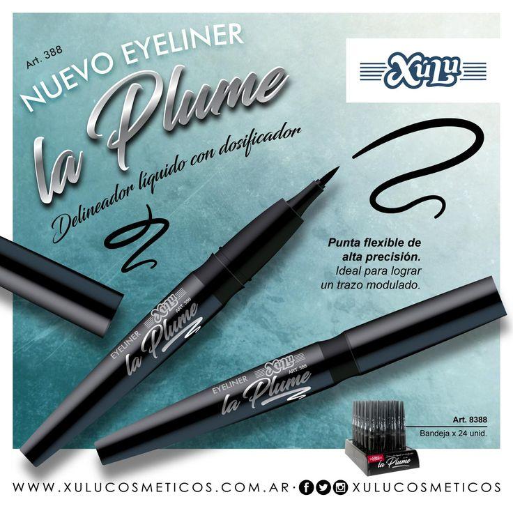 Nuevo delineador líquido de ojos La Plume, con dosificador y punta flexible de alta precisión. ¡Ideal para lograr un trazo modulado!