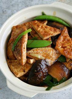 Braised Tofu with Mushrooms - Pressed Tofu #3