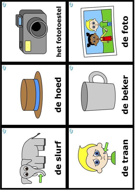 Uk & Puk woordkaart - thema 'dit ben ik'