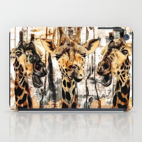 Giraffes iPad Case #giraffes #animals #paintings #digital #art @Society6