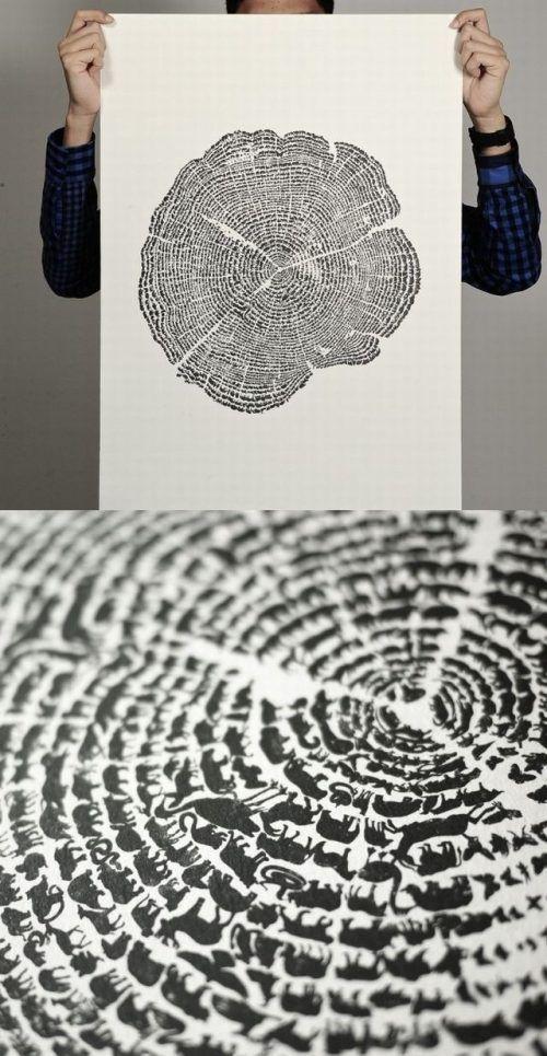 tree print - it's all animals!