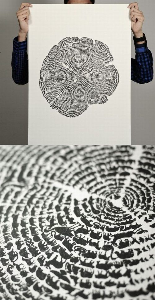 Tree print. I love these!