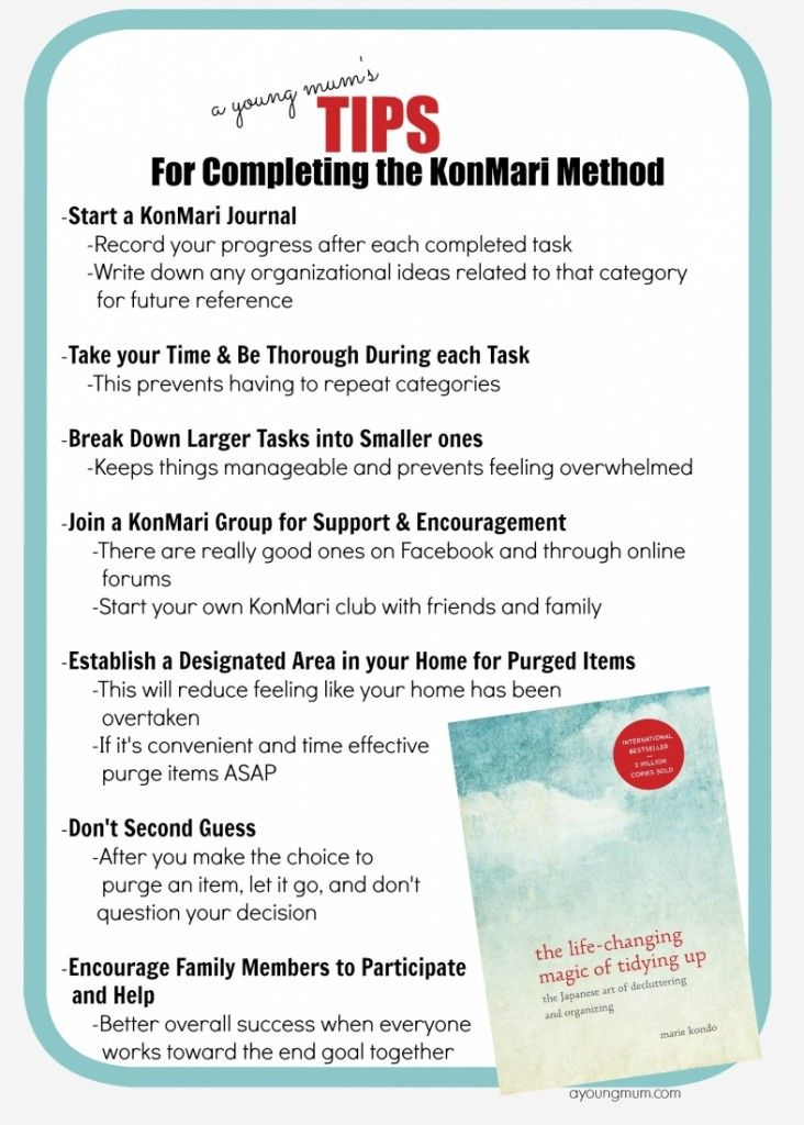 KonMari Tips for Completing the Method