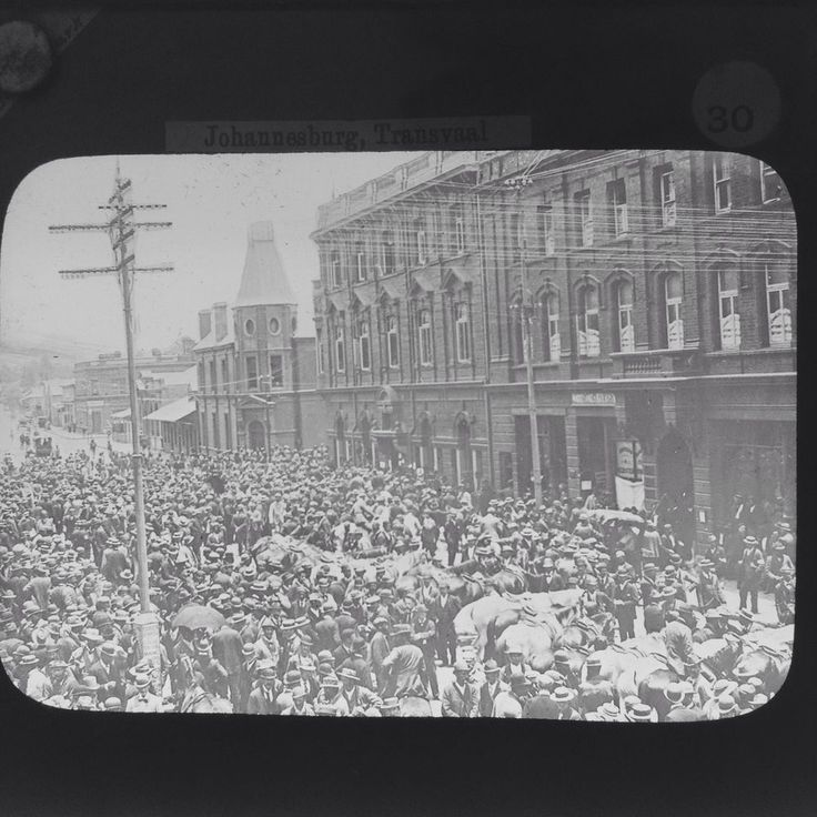 Magic Lantern Slide Transvaal War Crowds Waiting For News   South Africa