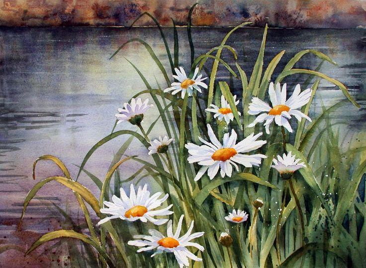 Ann Mortimer. Acuarelă. Flori - Galerie de arta