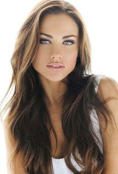 Image result for brown hair with dark brown underneath