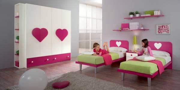 camerette per bambini doppie letti a terra da principessa - Cerca con Google