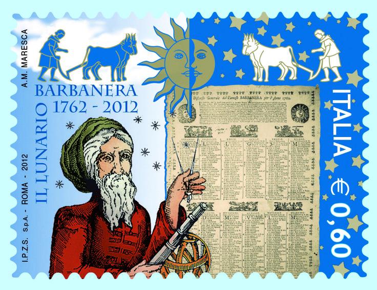 Il Francobollo dedicato a Barbanera da Poste Italiane in occasione dei suoi 250 anni.