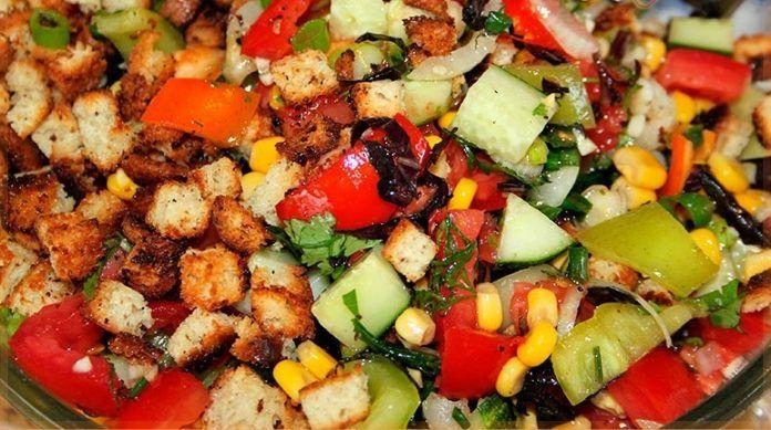 Салат «Эдельвейс». Сытный и свежий салатик