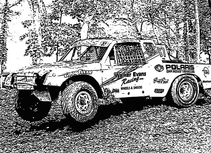 coloring page race car