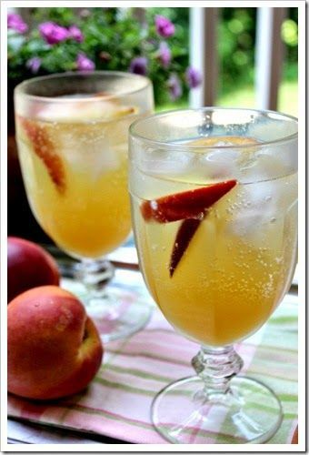 Peach & Moscato White Wine Sangria.