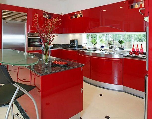 Red kitchen design ideas - http://ideashomeinterior.com/red-kitchen-design-ideas.html