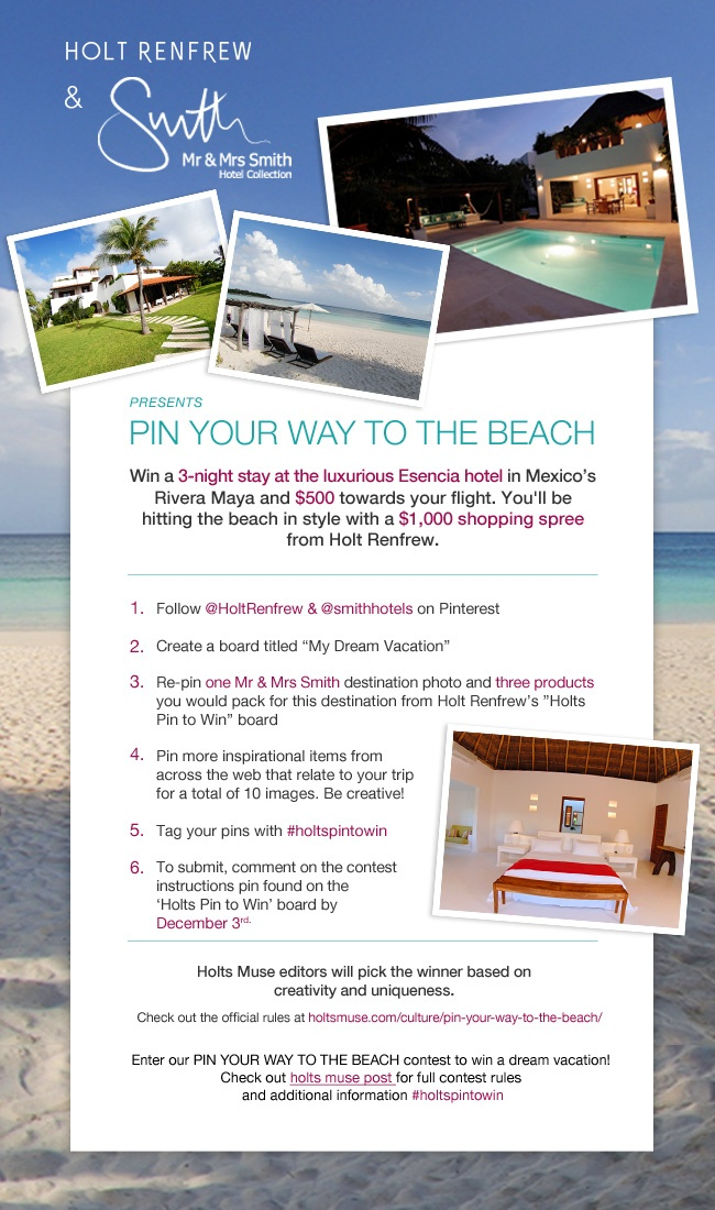 PIN YOUR WAY TO THE BEACH Contest instructions--comment here to enter your completed board. Click through for official Rules and Regulations> http://www.holtsmuse.com/culture/pin-your-way-to-the-beach/  #holtspintowin