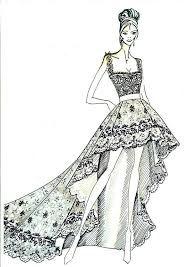 BOCETOS DE MODA : Bocetos de vestidos de novia