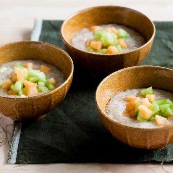 Coconut Sago with Melon