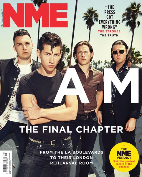 NME Magazine cover, Arctic Monkeys, September 7th 2013