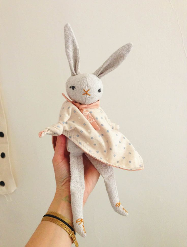 one of a kind linen baby toy