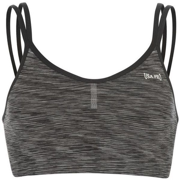 USA Pro Seamless Crop Top Ladies ($13) ❤ liked on Polyvore featuring tops, usa pro, cut-out crop tops, seamless top and cropped tops