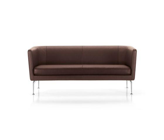 Vitra. Suita club sofa. Материалы: аллюминий, текстиль/кожа. Размеры: Д170.5(184) х Г72.5(78) х В70(116) (с43)см.