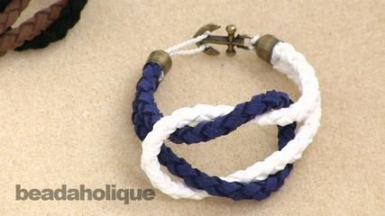 How to Make a Knotted Round Braid Anchor Bracelet - Video Tutorial
