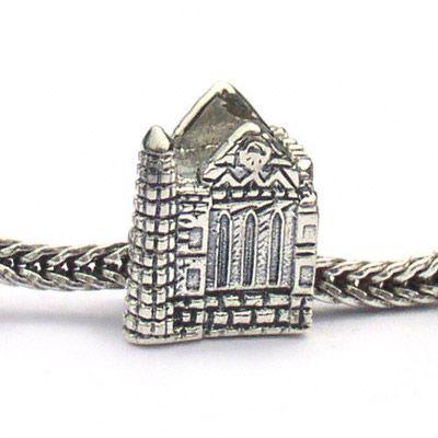 Ireland rock of cashel sterling silver landmark bead fits pandora and