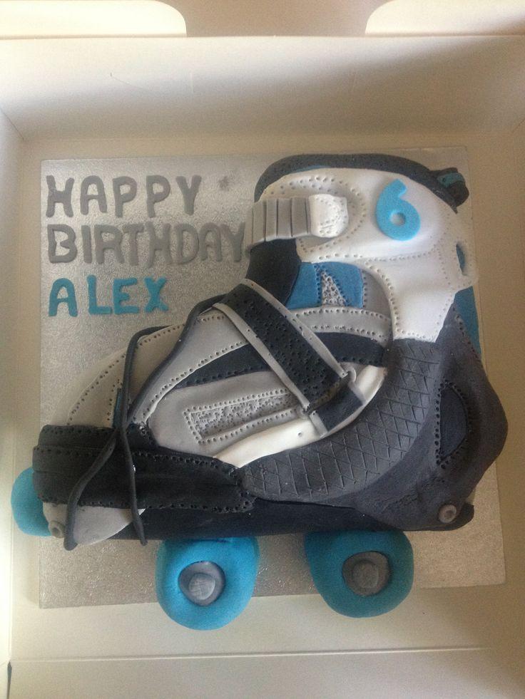 Roller boot cake