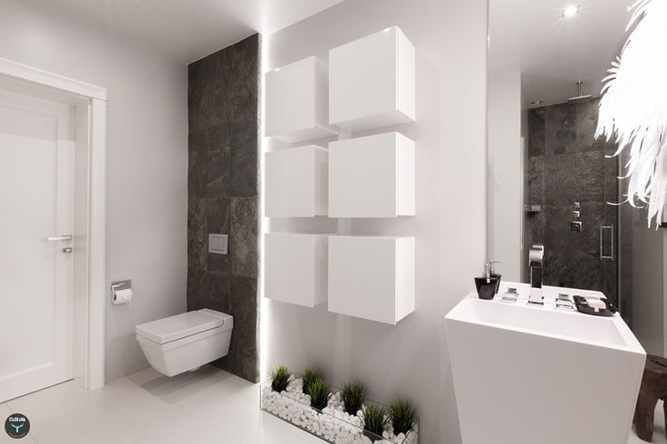 Łazienka, biała, jasna