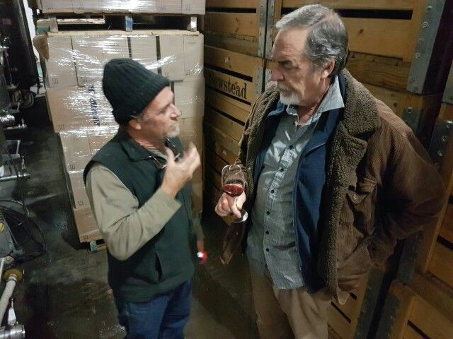 Cellar master Anton Smal with Dave Butler from That Wine