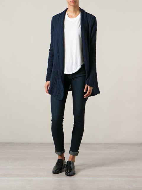 RAQUEL ALLEGRA wrap-style shawl jacket