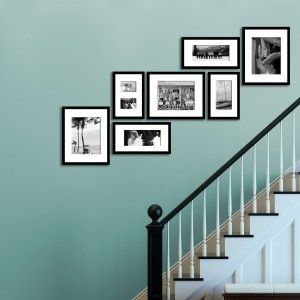 Charming Family Photos Display Along The Staircase On The Blue Wall , Personalize  Your Interior Space By. Picture Frame CollagesWedding ...