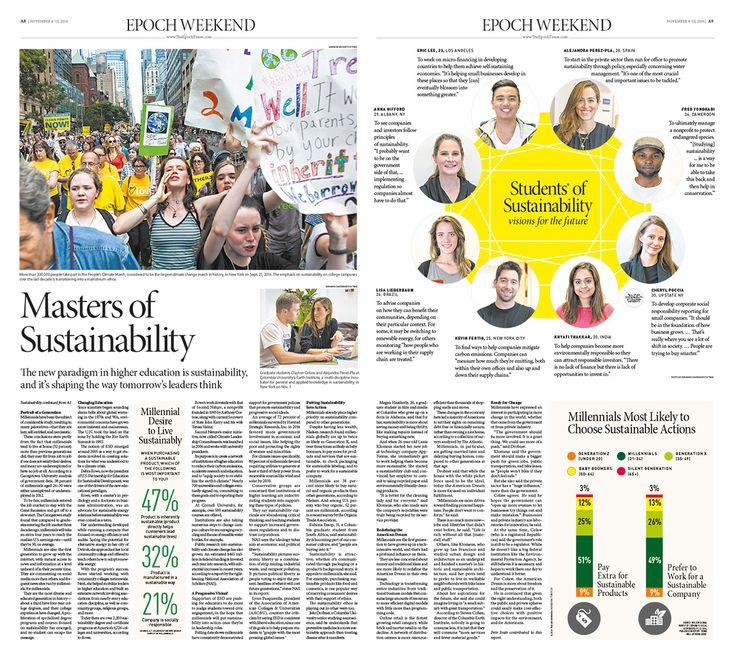 Masters of Sustainability|Epoch Times #newspaper #editorialdesign