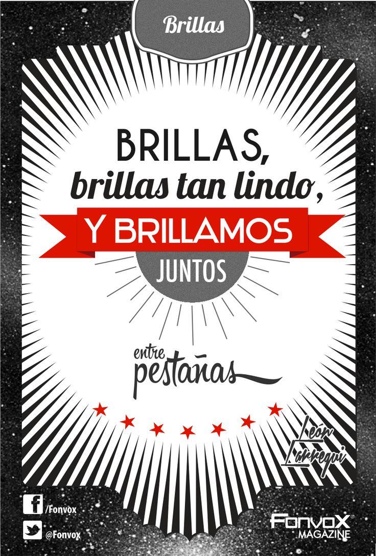 Brillas - León Larregui  Diseño: Julio C. Vox
